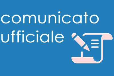 Comunicato Ufficiale nr. 1 del 23/06/2016