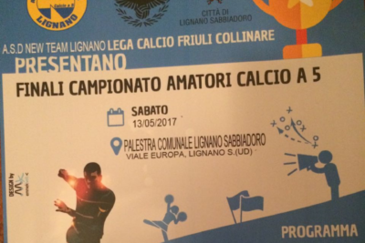 Sabato 13 maggio, a Lignano, le finali del campionato amatori c5
