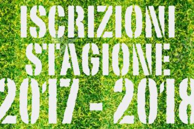 Iscrizioni stagione sportiva 2017/2018